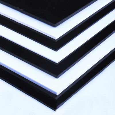White/Black ABS Plastic Sheets Skins Board Plate 0.3mm-5mm Thick For Craft DIY