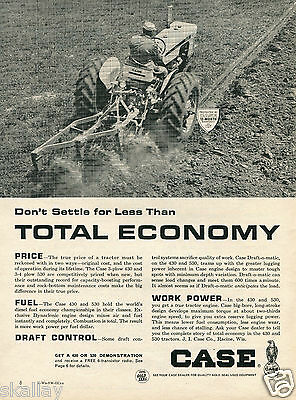 1964 Print Ad of Case 430 or 530 Farm Tractor