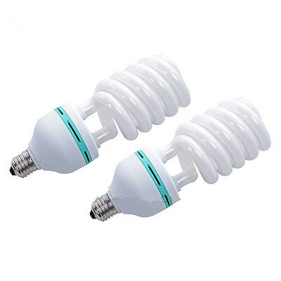 2x 85W Photo Studio Compact Fluorescent Bulb Day Light Photography Lamps