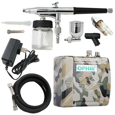 DC 12V Mini Air Compressor Kit 0.3mm Airbrush Paint  for Temporary Tattoo Hobby