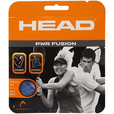 HEAD PWR Fusion 16g 1.30mm Tennis Racquet String 12m Power Comfort Durability
