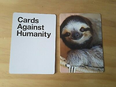 Cards Against Humanity Rare Sloth Card Hawaii 2 Authentic