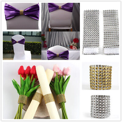 50 X Diamante Napkin Ring Serviette Holder Wedding Banquet Dinner Home Decor New