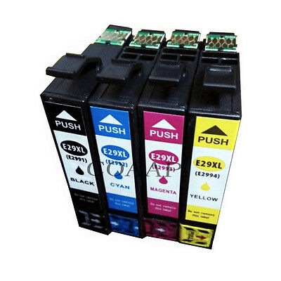 4 x Non-OEM Generic Ink Cartridges for Epson 29 29XL XP-235 XP-332 XP-335 XP-432