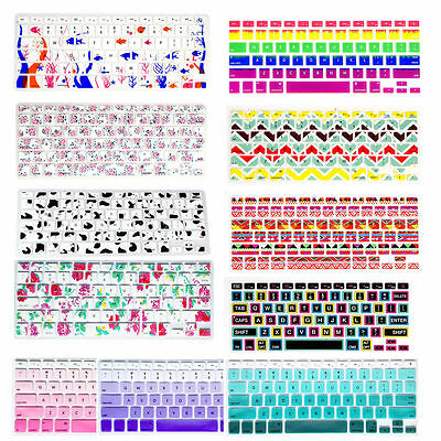 Silicon Decal Keyboard Cover Keypad Skin Protector For Old Macbook Air Pro 13 15