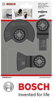 Bosch 2608662342 Tile Blade Starlock Blade Set for Multi-Tools 3 Piece