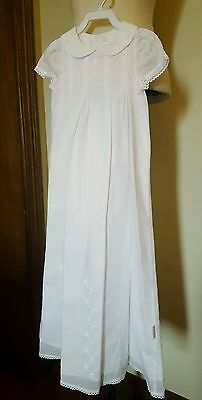 HALO BABY white cotton gown christening  baptism naming day dress size 0