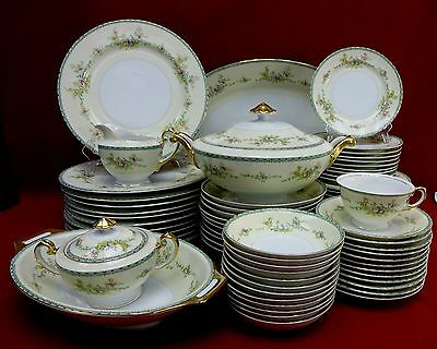 MEITO Japan china MEI59 FLORAL SPRAYS pattern 81 piece Set Service with Serving
