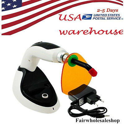 Wireless Cordless LED Dental Curing Light Lamp 5W 1400MW Teeth Whitening USA!!!