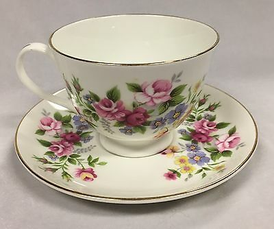 Vintage Royal Grafton Bone China Tea Cup and Saucer Made in England Size