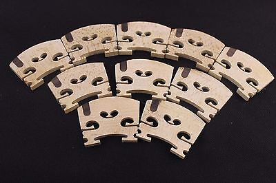 10 pcs Violin Bridge parts maple wood High quality ebony 4/4 New