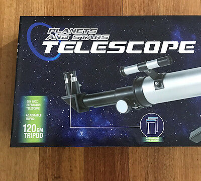 Telescope with Adjustable Tripod. NEW. 99¢ start