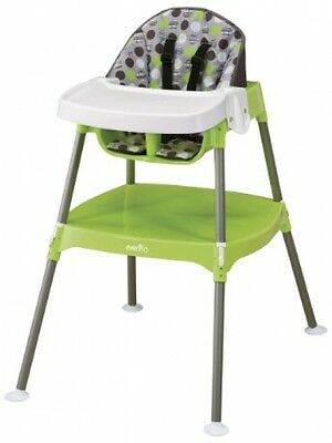 Evenflo Convertible High Chair For Baby Toddlers, Dottie Lime