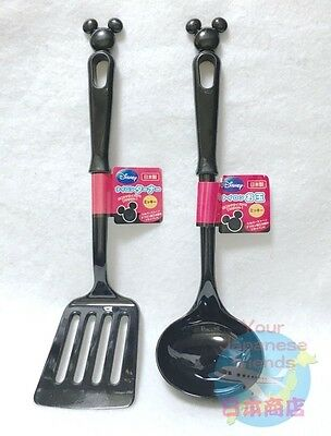 Disney KAWAII Mickey Mouse Nylon Cooking Turner & Ladle Made in JAPAN Quality