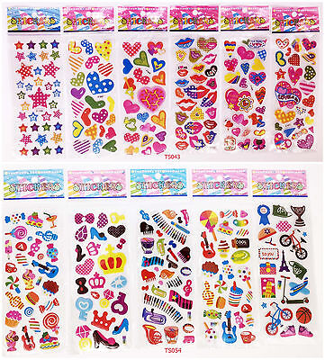 11Pcs Lot / 3d Children Cartoon Early Learning Bubble Stickers/Funny Stickers