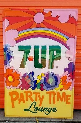 Peter Max 7 up Party Time Lounge Sign