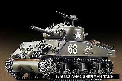 Heng Long 1/16th M4A3 Sherman Remote Controlled Tank With Smoke & Sound 2.4Ghz