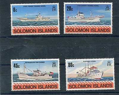 Solomon Islands 1980 402-05 battelli da pesca MHN
