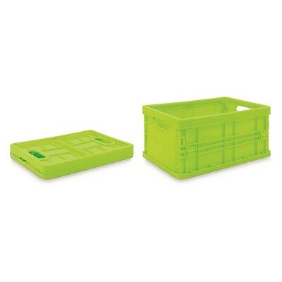 SMALL FOLDABLE FOLDING PLASTIC STORAGE BASKET HOME KITCHEN 20 x 14 CM