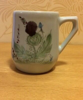 """Buchan Pottery - Thistle - 311 10  - 3 5/8"""" Straight Mug Excellent Condition"""