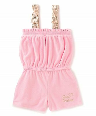Girls JUICY COUTURE pink french terry Romper PLAYSUIT 5/6Y (116cm) BNWT