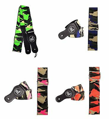 Multi Coloured Army Camouflage Guitar Bass Strap