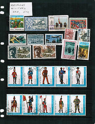 MILITARY / UNIFORMS / WAR  GROUP of 23 see scan  USED  Lot E 303-23