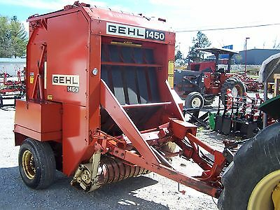 Gehl 1450  Round Baler size 4x5, CAN SHIP @ $1.85 loaded mile