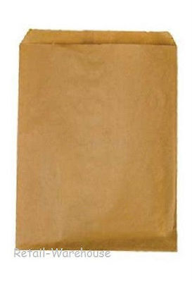 "Flat Paper Bags 1000 Natural Kraft Retail Store Sales Merchandise 8 ½"" x 11"""