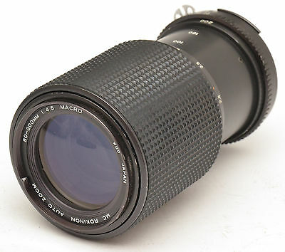 MC Rokinon Auto Macro Zoom 80-200mm F4.5 Lens For Nikon F Mount!