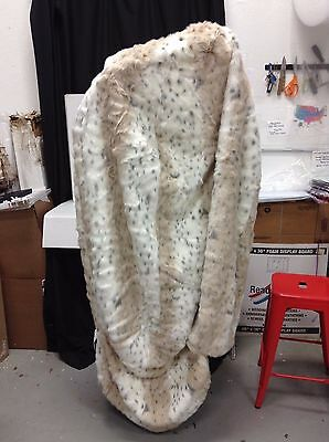 Pottery Barn PBTeen Large Beanbag Chair Replace Slipcover Snow Leopard Faux Fur