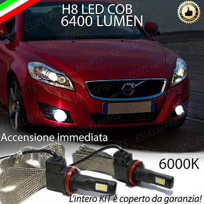 Kit Full Led Volvo C70 Ii Restyling Lampade H8 Fendinebbia Canbus 6400L 6000K