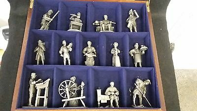 The Franklin Mint - People of Colonial America Fine Pewter Set