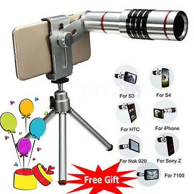 18x Zoom Telescope Camera Telephoto Lens Kit & Tripod for Universal Mobile Phone
