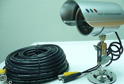 New Wired Surveillance Day/Night Camera with 100ft av Cable & Power Supply