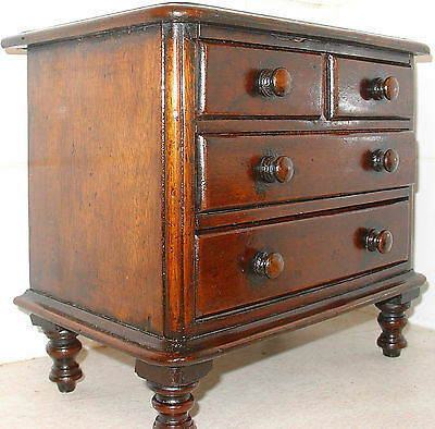 Reproduction apprentice piece antique Victorian chest of drawers