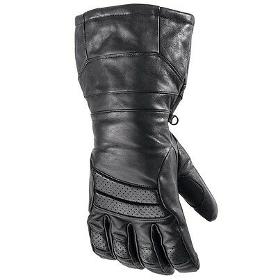 Arctic Cat Snowmobile Touring Hi-Cuff Leather Gloves Black 2XLarge 5262-268