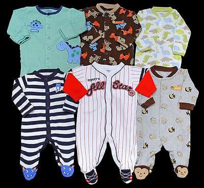 BABY BOY Newborn 0-3 3 months ALL Carter's SLEEPER PAJAMAS Clothes Lot