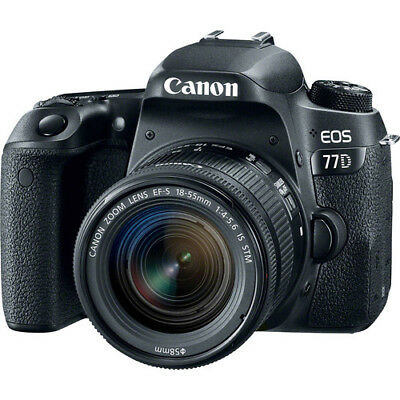 New Canon EOS 77D 24.2 MP Digital SLR Camera + 18-55mm Lens with Built-In Wi-Fi