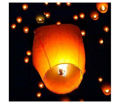 New Extra Large 30 pcs White Sky Lantern Chinese Lanterns Sky Fly Candle Lamp