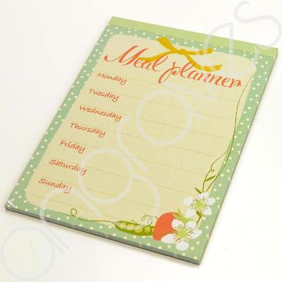 Magnetic Meal Planner Writing Pad Notebook Shopping List Week Plan