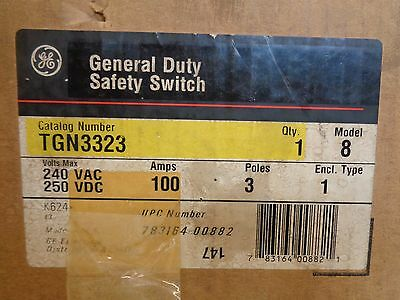 New Ge General Electric Tgn3323 General Duty Safety Switch