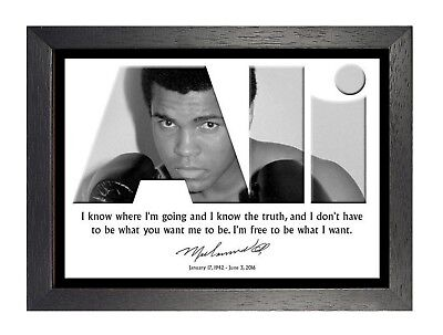 Muhammad Ali 4 Young Quote Motivation Inspiration Black White Poster Boxer Sport
