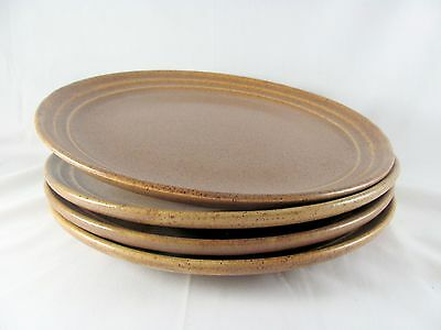 "4 Monmouth Mojave Dinner Plates, 10-1/8"", brown, 2 sets available, vtg"