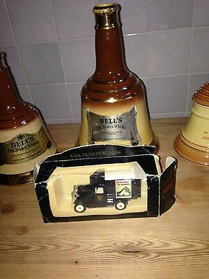 Collectable Guinness truck and wade bell whisky bell x3