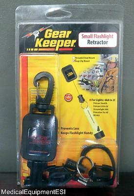 NEW Gear Keeper Flashlight Keys Retractor RT2-4412 Fire Rescue Scuba keychain
