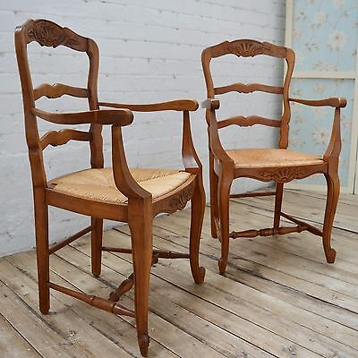Matched Pair of French Louis Style Decorative Carver chairs / Arm chairs