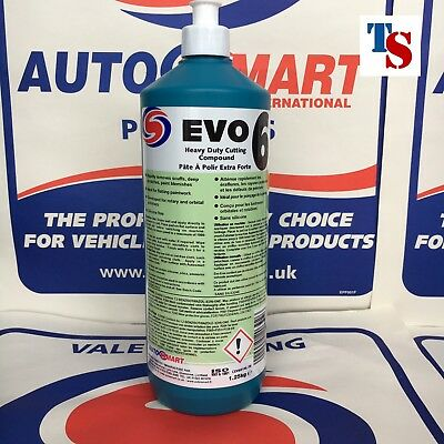 Autosmart EVO 6 - Heavy Duty Cutting Compound 1L 1 Litre (GENUINE PRODUCT)