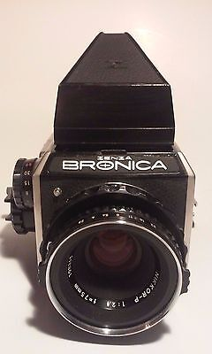 Vintage Camera Zenza Bronica With Nikkor-P 75 MM Lens  Made In Japan Nice