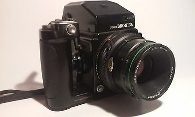 Vintage Camera Zenza Bronica ETRS With Zenzanon 75 MM Lens  Made In Japan Nice